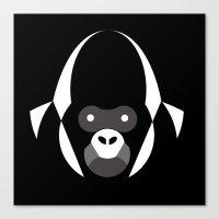 gorilla Canvas Prints featuring Gorilla by Alvaro Tapia Hidalgo