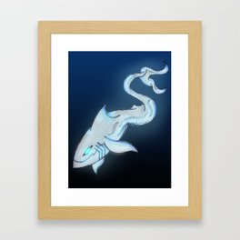 Great White Ghost Framed Art Print