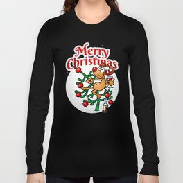 Reindeer in a Christmas tree Long Sleeve T-shirt