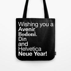 Happy Helvetica Neue Year 2014 Tote Bag