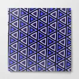 Purple Triangles Metal Print