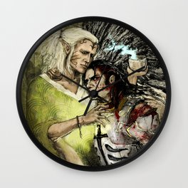 Dragon Age - Templar and Apostate Mage - Cure Wall Clock