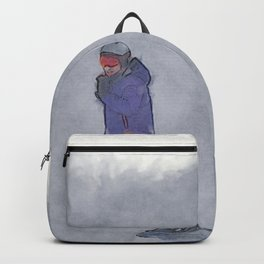 Sliding into Home - Winter Snowboarder Backpack