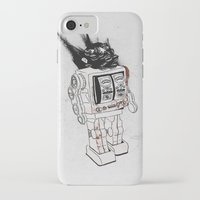 army iPhone & iPod Cases featuring robot army by Tom Kitchen