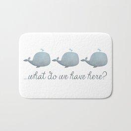 Whale Whale Whale What Do We Have Here? Bath Mat