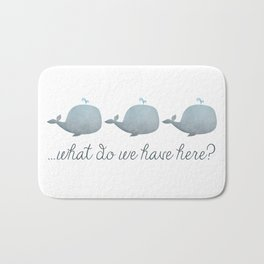 Whale Whale Whale What Do We Have Here? Bath Mat