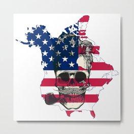 american skull Metal Print