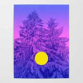 Winter Delight with Fir Trees Poster