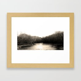 Follow the river Framed Art Print