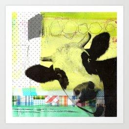MUH...bunte Kuh Art Print
