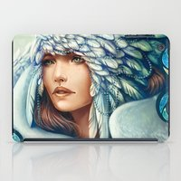 swan iPad Cases featuring Swan by Bea González