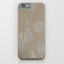 Forest Bathing - Taupe  iPhone Case