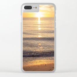 Sunset Solitude Clear iPhone Case
