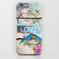 Love Birds on wood iPhone 6s Slim Case