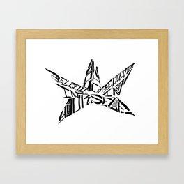 Calligranime: Yourself Framed Art Print