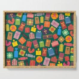 Fun Gift Box pattern Serving Tray