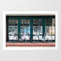 bicycles Art Prints featuring Bicycles by DoryTuohey