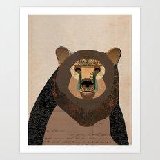 Bear Collage Art Print