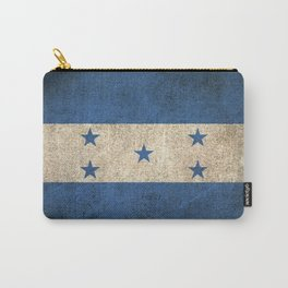 Old and Worn Distressed Vintage Flag of Honduras Carry-All Pouch