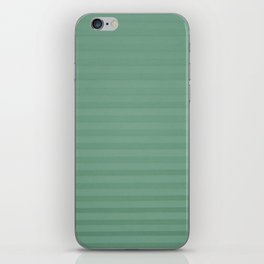 Vintage chic green geometrical stripes pattern iPhone Skin