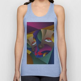 The Mask Cubism Arts Unisex Tank Top