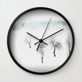 Bare bones in Winter Wall Clock