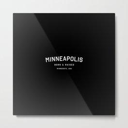 Minneapolis - MN, USA (Black Arc) Metal Print