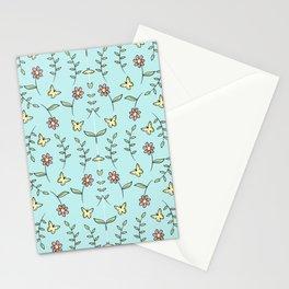 Modern Flowers Pattern Art Stationery Cards