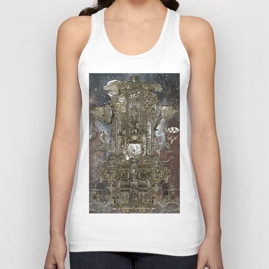 Steampunk Space Transport Unisex Tank Top