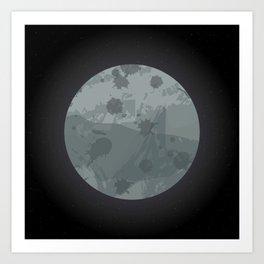 Undiscovered Planet: Grey Art Print