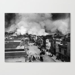 San Francisco Earthquake Aftermath - 1906 Canvas Print