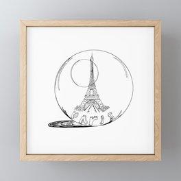 Paris in a glass ball .  City art, Decorative Prints, altwall, Home Decor Graphicdesign Framed Mini Art Print