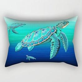 Sea Turtle Turquoise Oceanlife Rectangular Pillow