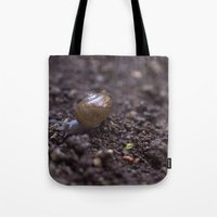 snail Tote Bags featuring Snail by Heartland Photography By SJW