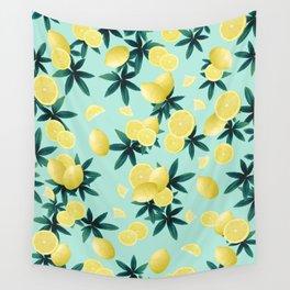 Lemon Twist Vibes #1 #tropical #fruit #decor #art #society6 Wall Tapestry