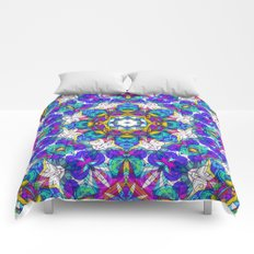 Drawing Floral Doodle G416 Comforters