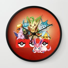 POKEMONS Eevelution Wall Clock