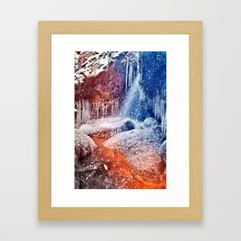 Acrylic Winter Stream Framed Art Print