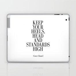 Keep your heels head and standards high Laptop & iPad Skin