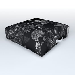 DARK FLOWER Outdoor Floor Cushion