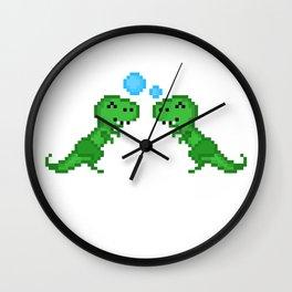Dino Bubbles Wall Clock