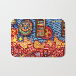 Rider Rida Rode Over Rainbow City Bath Mat