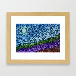 Lavender Fields - France French Landscape Art Framed Art Print