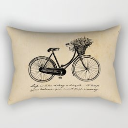 Albert Einstein - Life is Like Riding a Bicycle Rectangular Pillow