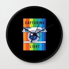 Capturing Light Photography Photographer Photo Wall Clock