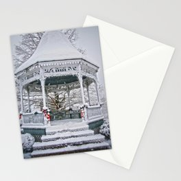 Gazebo in the Snow Stationery Cards