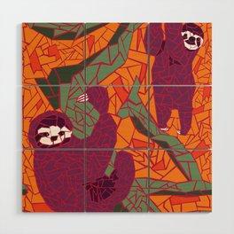 Sloth Mosaic Wood Wall Art