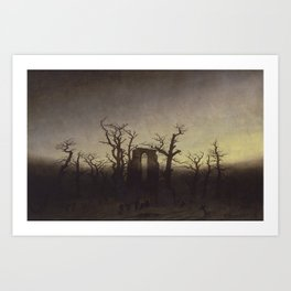Abbey among Oak Trees by Caspar David Friedrich Art Print