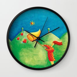 Catching Love Wall Clock