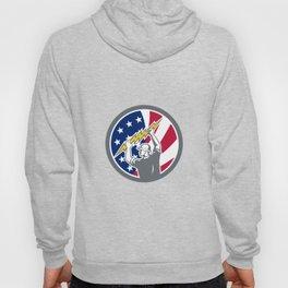 American Electrician USA Flag Icon Hoody